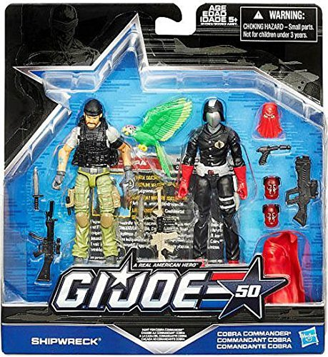 G.I. Joe, 50th Anniversary, Hunt for Cobra Commander Action Figure Set [Shipwreck vs. Cobra Commander], 3.75 Inches (Gi Joe The Rise Of Cobra Shipwreck)