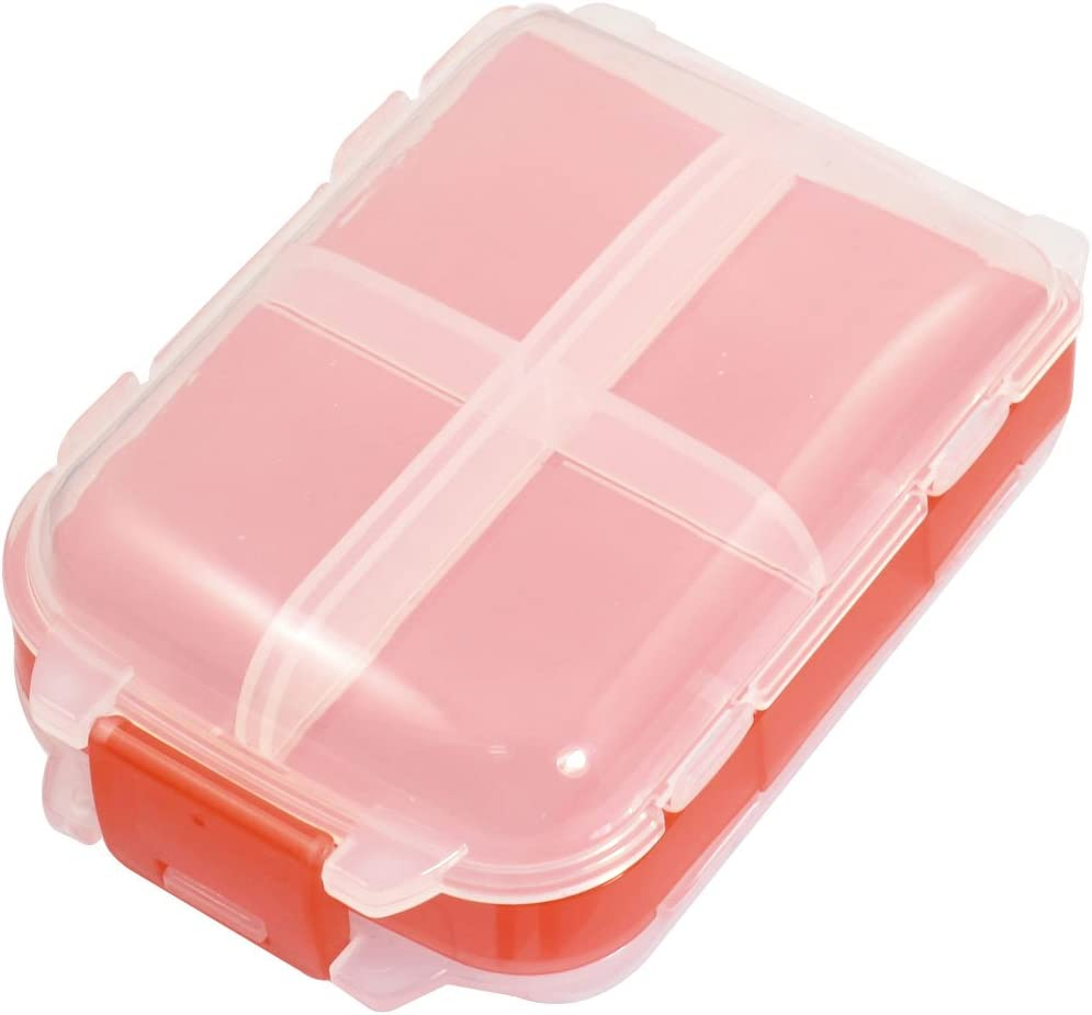 uxcell/® Clear White Red 3 Layer 8 Compartments Electronic Components Case