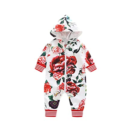 86262cd7e37d Image Unavailable. Image not available for. Color  Franterd Little Girls  Boys Hooded Rompers Baby ...