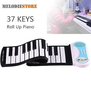 iBalody Profesional 37 Llaves de Silicio Mano Flexible Roll Up Piano Soft Portátil Teclado Electrónico Regalo