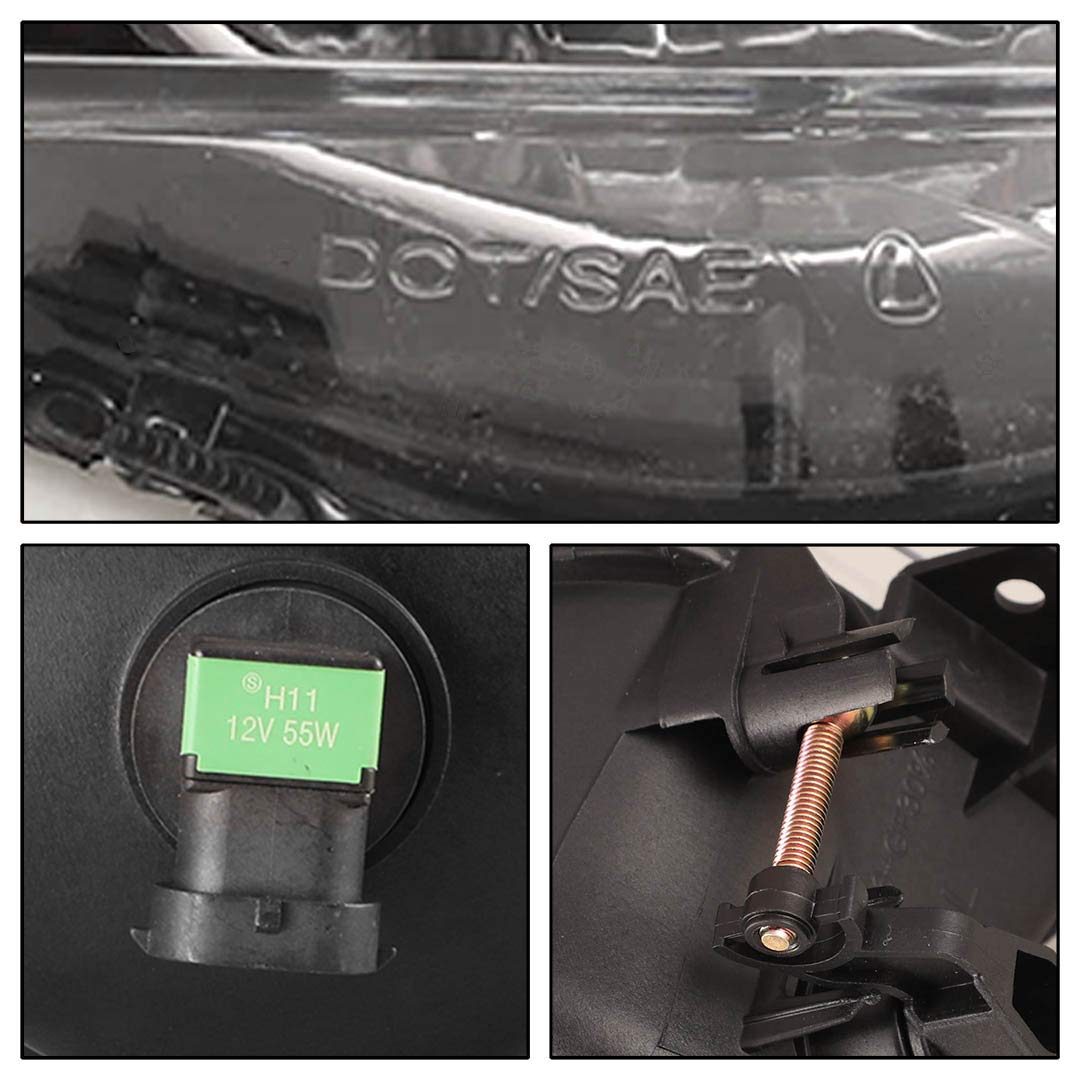 2006-2008 BMW E90 3-Series Winjet WJ30-0163-09 OEM Clear Lens Driving Fog Lights