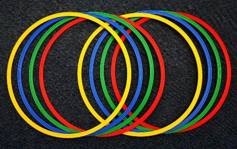 Red Juventud Unisex Sport Aro 60 cm Yellow Set 8 Aros psicomotricidad en 4 Colores 2X Green /Ø Blue