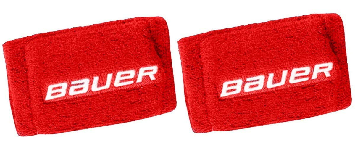 Bauer Hockey Slash Protection 4'' Wrist Guards, 2 Pack (Red) by Bauer