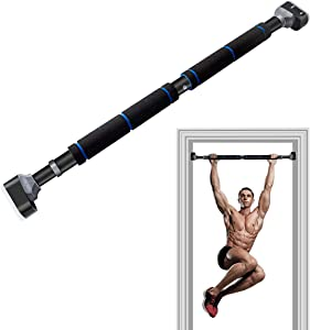 HOMEFITER Pull Up Bar for Doorway Chin Up Bar Pull-up Bars for Home Gym Exercise Workout - Solid, Adjustable 26.76'' - 39.36''