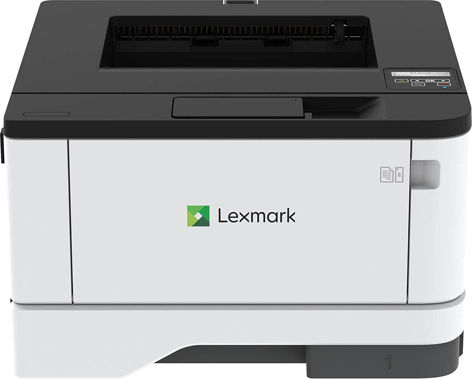Lexmark B3340dw Monochrome Laser Printer with Full-Spectrum Security and Print Speed up to 40 ppm(29S0250), Gray/White, Small