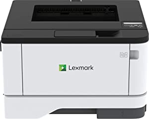 Lexmark B3442dw Monochrome Laser Printer with Full-Spectrum Security and Print Speed up to 42 ppm(29S0300),Gray/White,Small