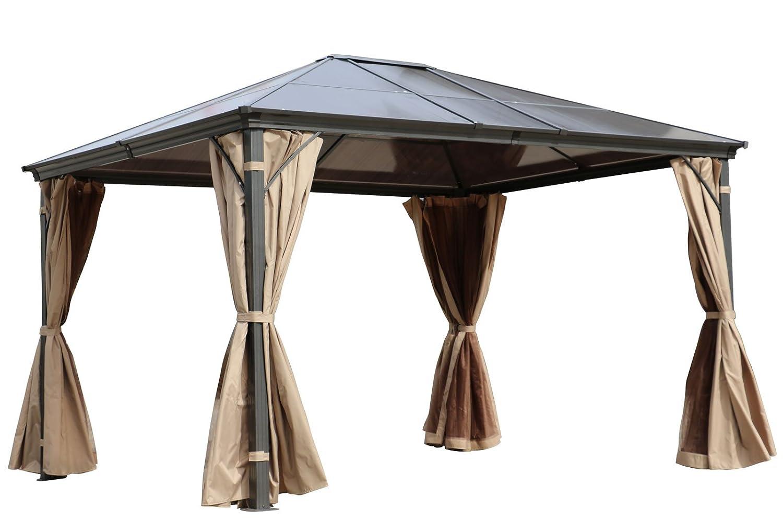 Outflexx Hardtop Pavillon, Aluminium, grau, 300 x 100 x 755 cm