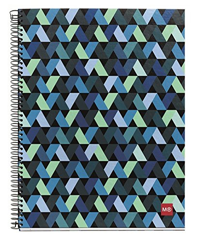 Miquelrius Spiral Hardcover Notebook, 4 Subject, 140 sheets/280 Lined pages, 8.5 x 11