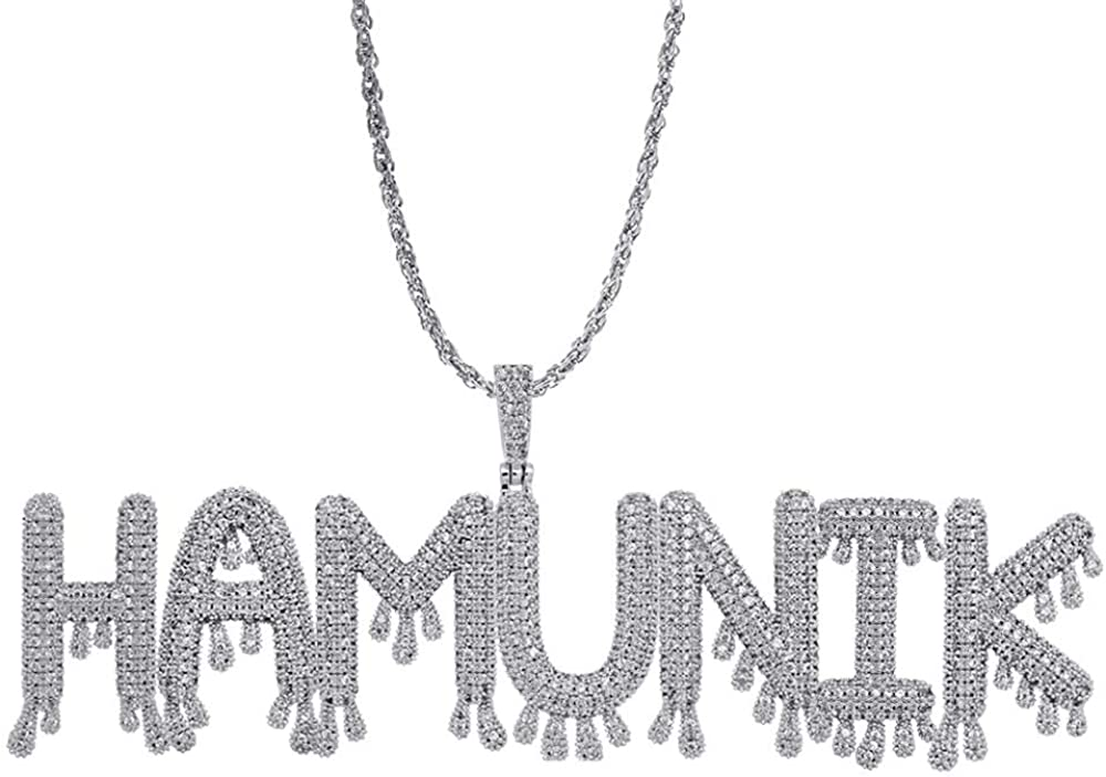 SShuangxu Stainless Stee Personalized Name Necklace Alphabet Pendant Custom Made Necklace with Name Jewelry for Girls Womens