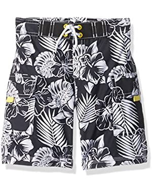 Baby Toddler Boys' Blk Floral Trunks