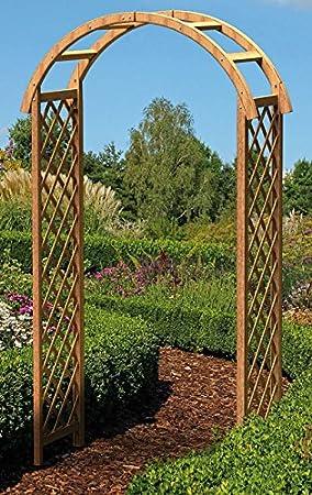 Wooden Garden Arch Wood Arch Amazon Co Uk Garden Outdoors