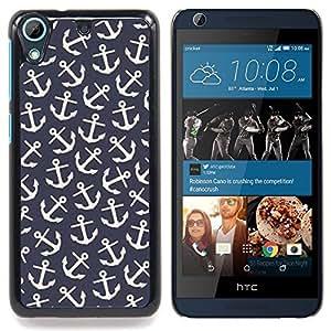 """Papel pintado del modelo del vintage del marinero"""" - Metal de aluminio y de plástico duro Caja del teléfono - Negro - HTC Desire 626 626w 626d 626g 626G dual sim"""