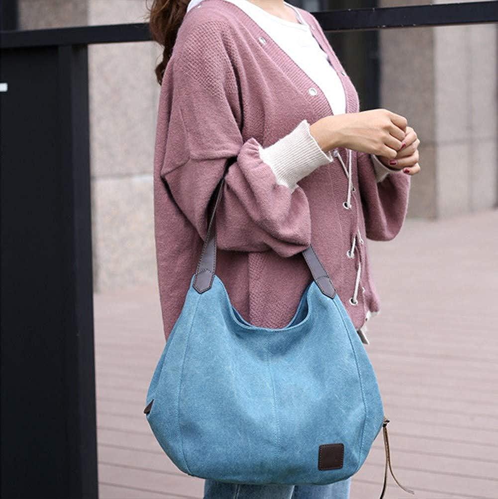 A.OAQRFA Borse da donna Borse di lusso Borse da donna Borsa di tela di design Borsa di arte selvaggia Spalla coreana Semplice casual, 28x13x30cm Blu
