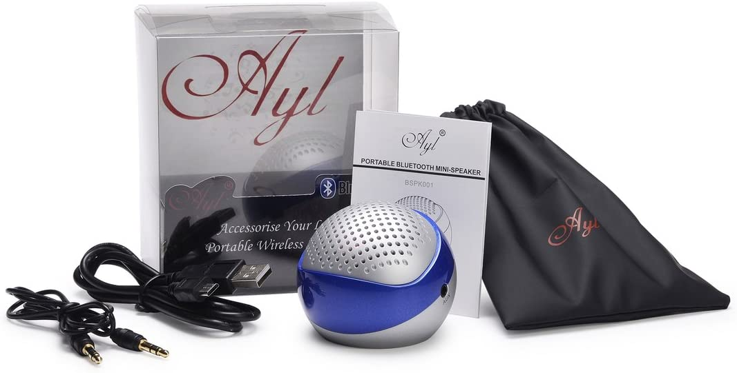 Winter Clearance Sales! BLuetooth speaker only for $20.99!! AYL Portable Bluetooth Wireless Version 4.0 Rechargeable Mini Speaker System for iPhone/ PC / Cell Phone / Tablet / Car /MP3 Player (Zaffree Blue) with Built-In Speakerphone: Electronics