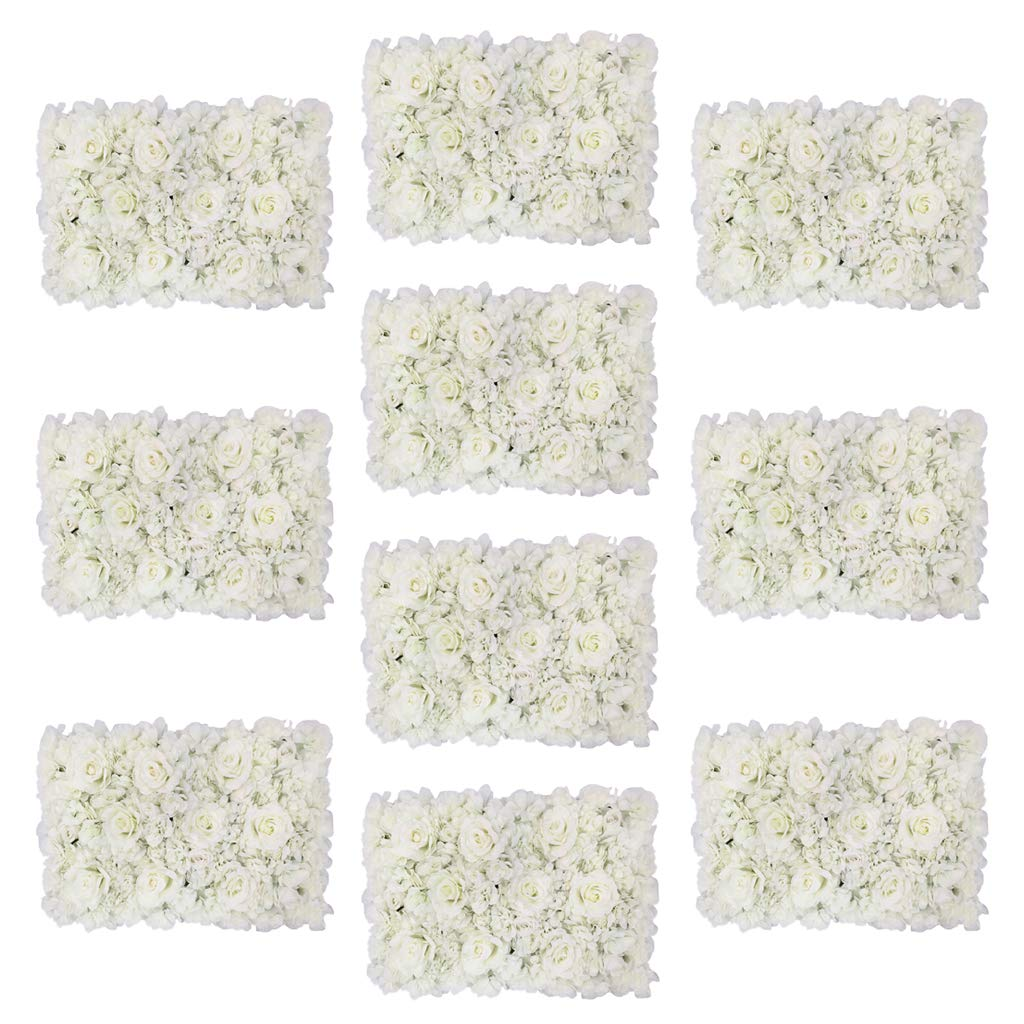 Perfeclan シルクフラワー お花 ロマンチック 装飾 壁パネル 人工花 多仕様選べ - 10本 B07HVQZCC4  10本
