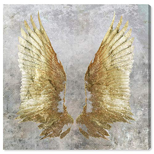 The Oliver Gal Artist Co. Fashion and Glam Wall Art Canvas Prints 'My Golden Wings' Home Décor, 43