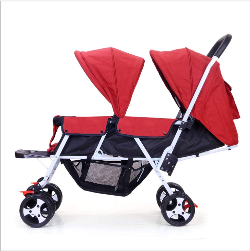 Qzx Lightweight Double Stroller For Baby And Toddler Tandem Duo