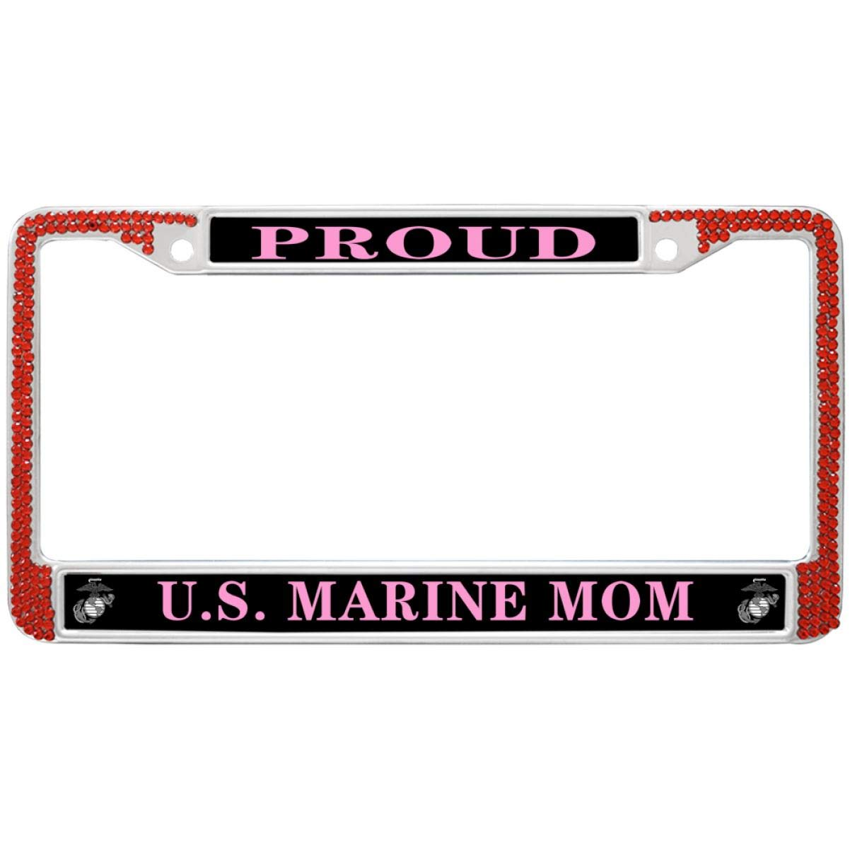 Proud US Marine MOM License Plate Frame