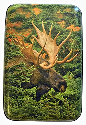 Fig Design Group North American Moose RFID Secure Theft Protection Credit Card Armored Wallet New