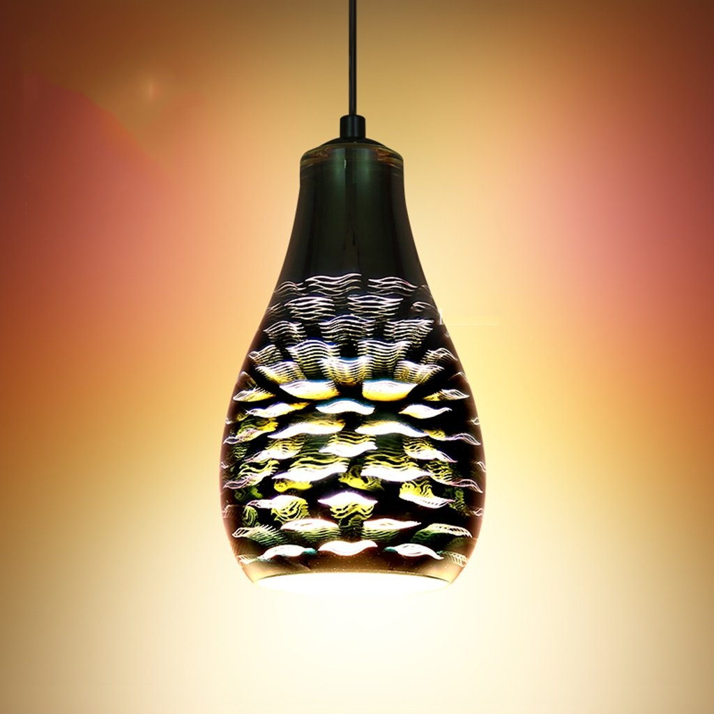 SX-CHENG $Indoor Lighting Glass Art Chandeliers, Modern Simple Bar Clothing Store Cafe Retro Restaurant Chandelier (Style : C)