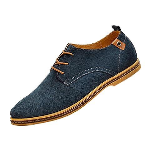 gleader nuevos zapatos de gamuza de cuero de estilo europeo oxfords