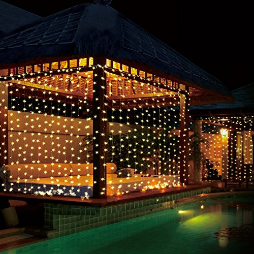 Quntis LED Curtain String Lights, Indoor Outdoor 300 LEDs 29V Warm White LED Icicle Starry Lights Decor for Home Bedroom Kitchen Garden Patio Window Wedding Party Holiday Christmas, UL588 certified by Quntis (Image #5)