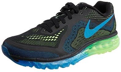 Nike Herren Air Max 2014 Laufschuhe (schwarz, Foto Blue