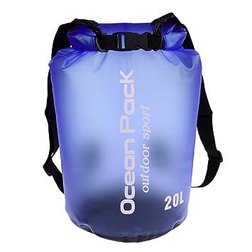 0fa6b690ea688 Homyl Wasserdichter Sack Trockentasche Dry Bag Packsack Rücksack Seesack  Trockenbeutel Trockensack Survival Bag Kleidertasche für Boot