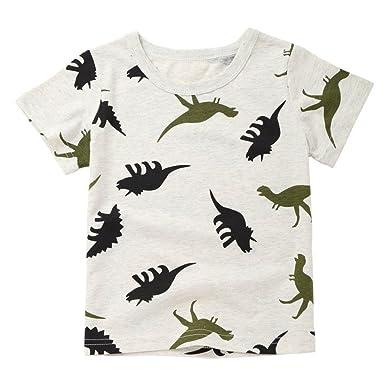 2c0ba96f30c ®GBSELL Little Girls Boys Summer Clothes Many Dinosaur Soft Tops Cute T- Shirt (