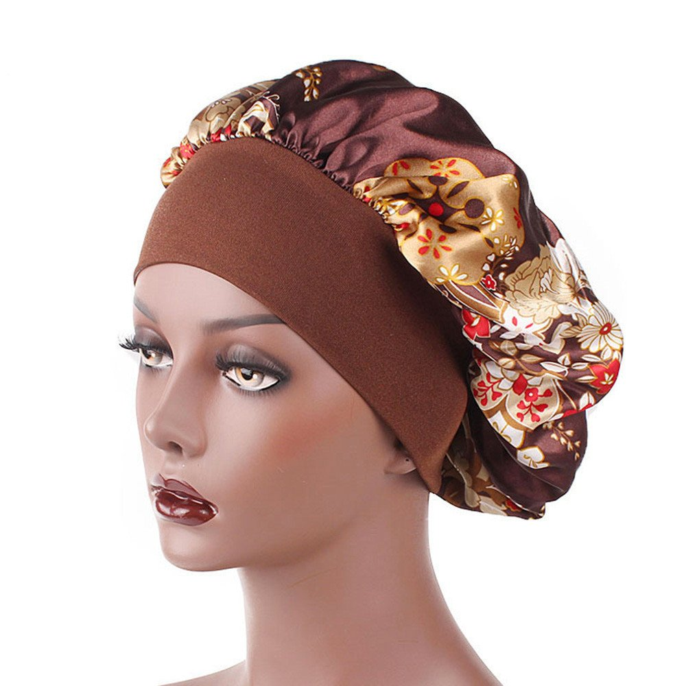 Women's Head Wrap GREFER Printed Wide-brimmed Hair Band Sleep Cap Chemotherapy Hat Hair Cap GREFER-Women Hats