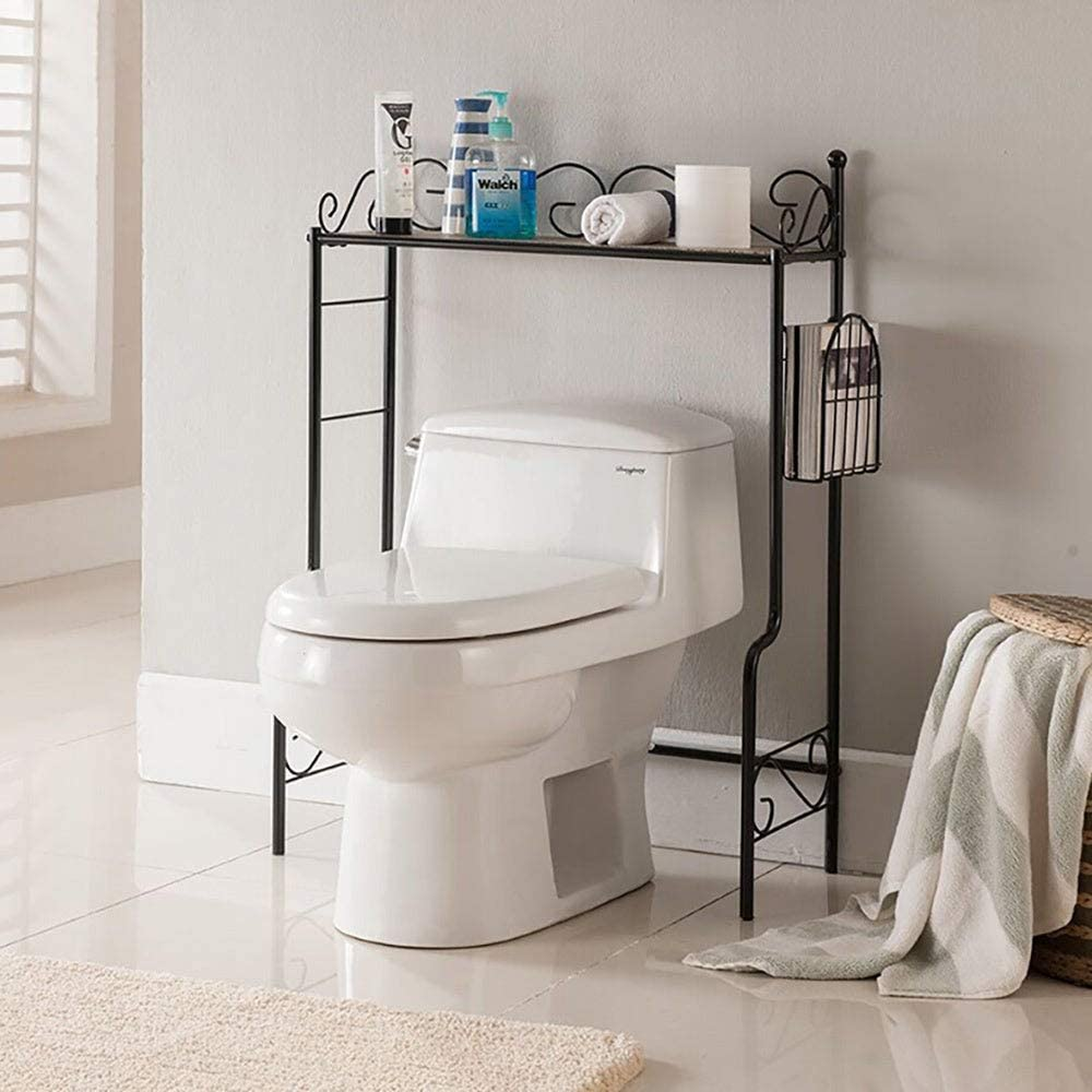 K and B Furniture Co Inc K&B Over The Toilet Shelf Black