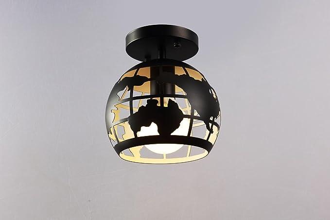 Plafoniere Soffitto Industrial : Plafoniere vintage da parete e nero metallo paralumi lampada