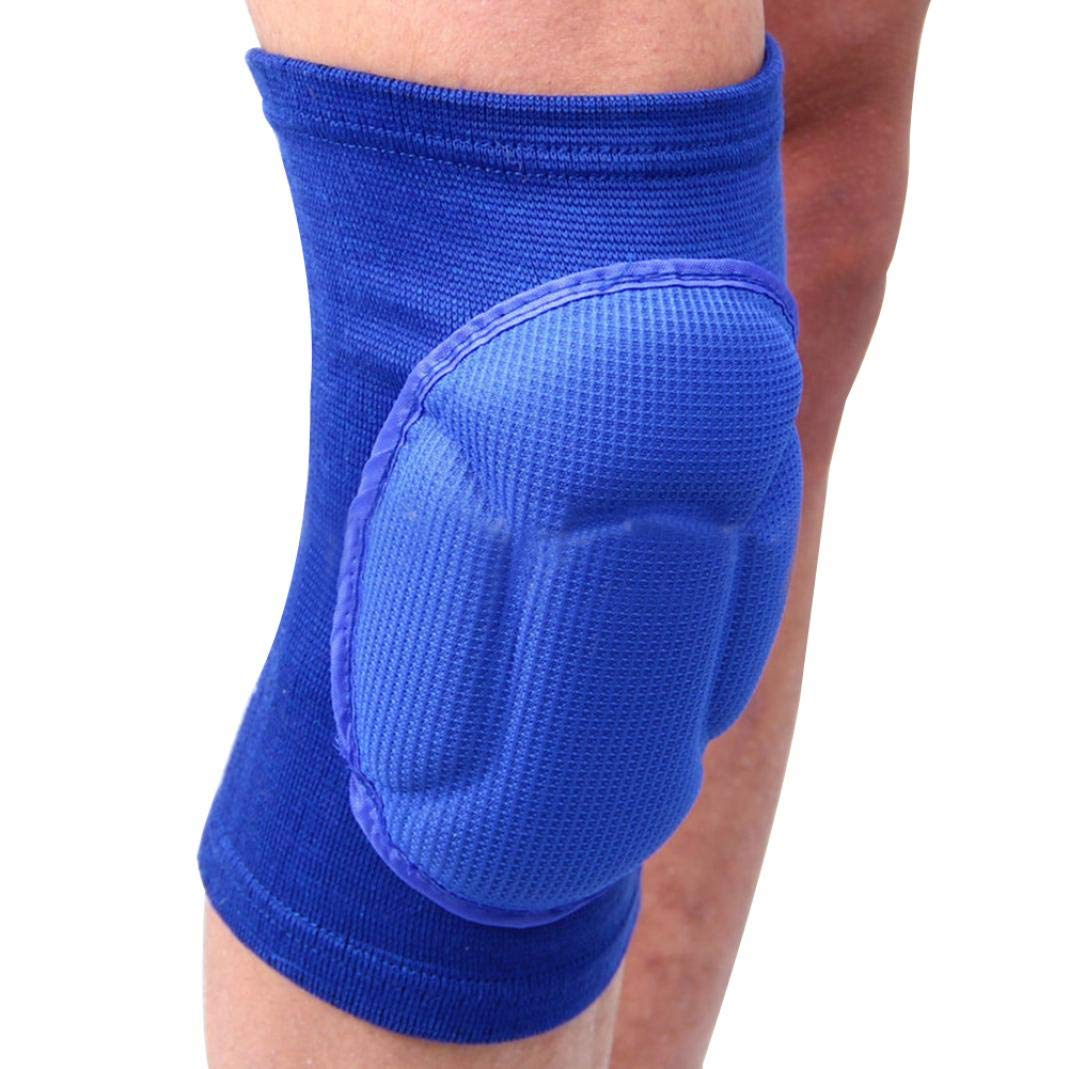 2Pcs Kneepad Knee Brace Support Compression Sleeve Knee Pads Thick Sponge Protector Safeguard Sports Wraps for Wrestling, Dance, Volleyball, Running, Basketbal, Climbing Climbing (Black) Brussels08