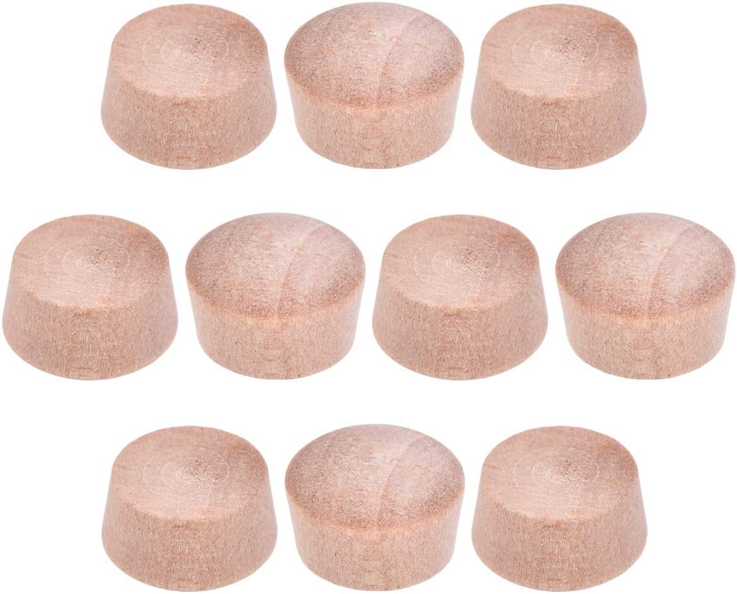uxcell Wood Button Top Plugs 3//8 Inch Cherry Hardwood Furniture Plugs 9//25 Inch Height 50 Pcs