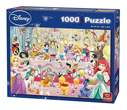 Birthday Jigsaw - King 5264 Disney Happy Birthday Jigsaw Puzzle 1000-Piece, 68 x 49 cm