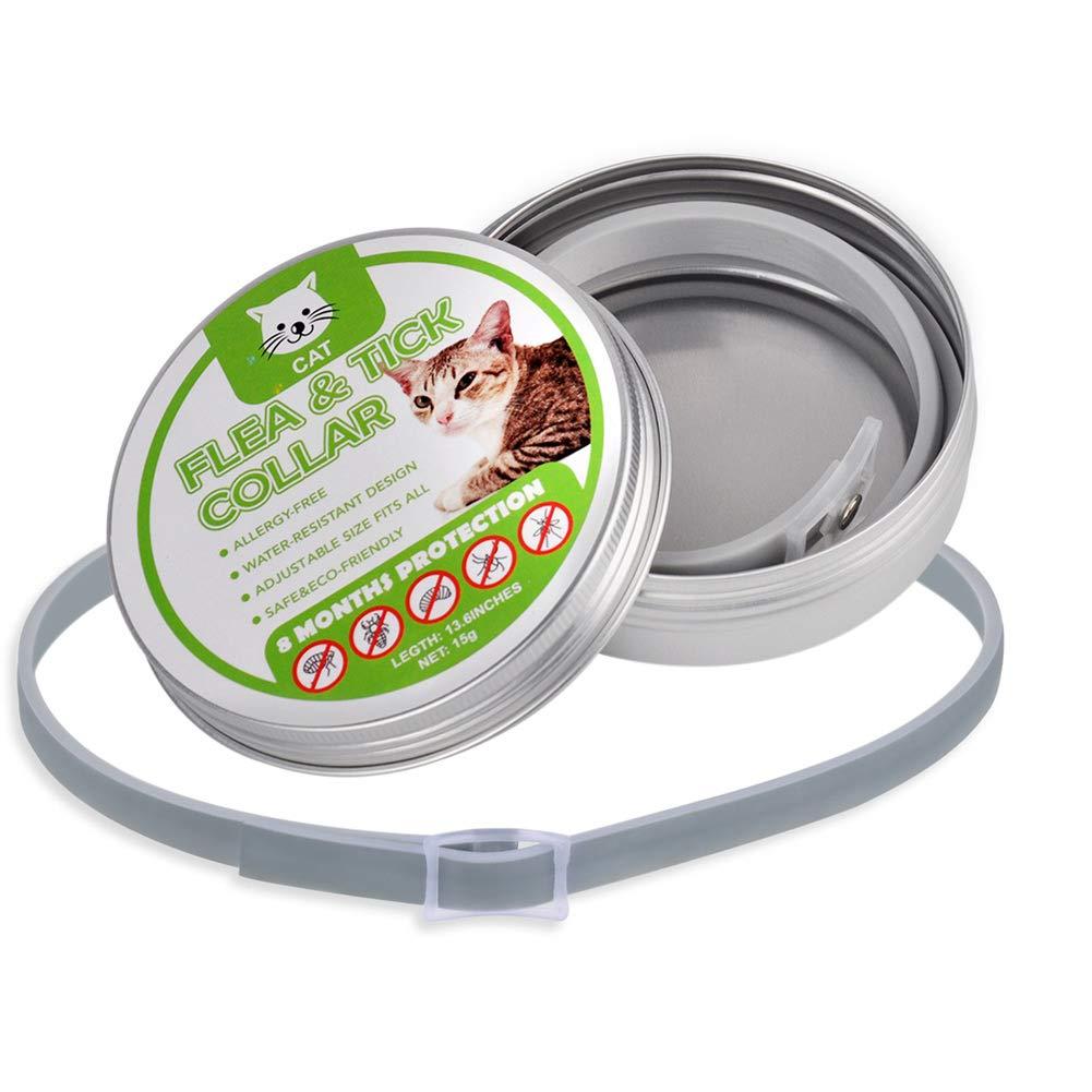 Soulitem Cat Collar Tick Flea Anti Insectos Mosquitos Impermeable Ajustable 8 Meses de protecci/ón