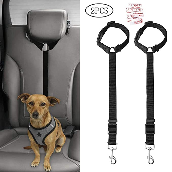 kuou Cinturón de Seguridad para Perro, 2 Piezas, arnés de ...