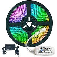 Fita LED RGB 3528 5 metros com Fonte e Controladora Wi-fi Alexa