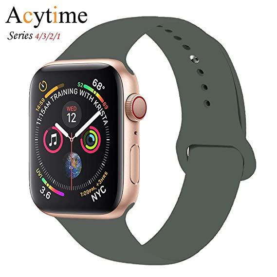9f5f3cffd ACYTIME Sport Band for Apple Watch 38mm 40mm 42mm 44mm, Soft Silicone Sport  Strap Replacement