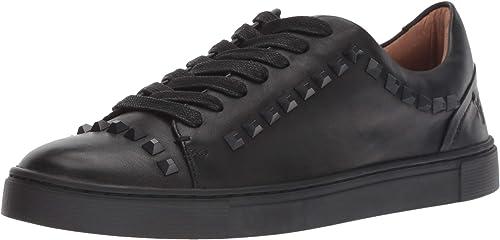 FRYE Womens Ivy Deco Stud Low Lace Sneaker