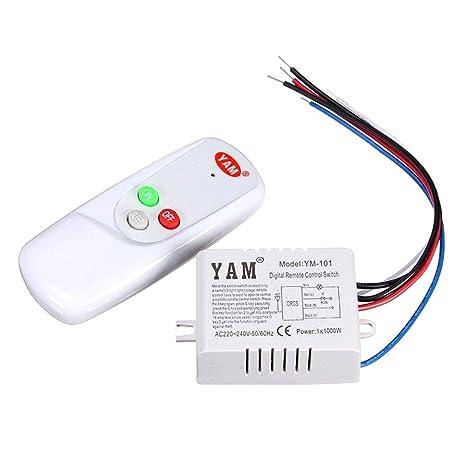 Schema Elettrico Presa Interruttore Lampadina : Lampada telecomando interruttore yam ac v wireless luce