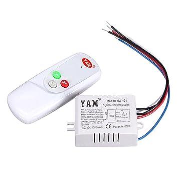 lamp remote control switch yam ac 220v wireless light lamp digital rh amazon com yamaha wire diagram yamaha motorcycle wiring diagrams