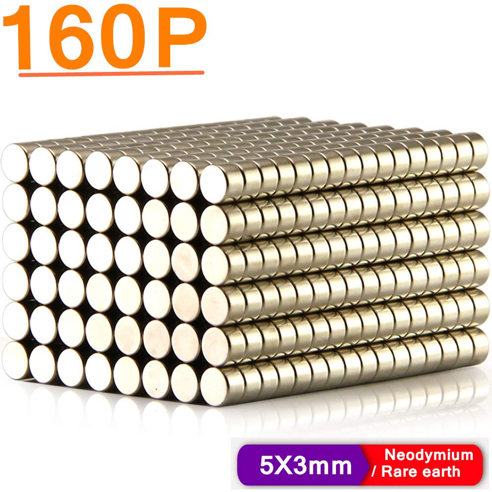 Neodymium Rare Earth for Magnets, Hooks, Disc,Permanent, DIY,Building, Scientific, Craft,Fridge, DIY,Scientific and Office (5-Size Kit/A) MAGNETS00A