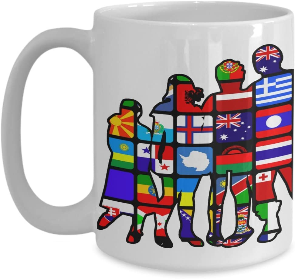 Amazon Com Flags Mug World Flags Large Flags Coffee Cup Birthday Anniversary Christmas Gift Stocking Stuffer Ideal For Friend Husband Wife Boyfriend Girlfriend Men Women In Different Country Kitchen Dining