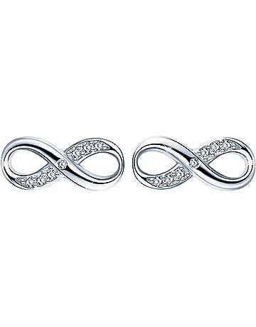 925 Silver White Topaz Women Jewelry Fashion Ear Stud Boucles d/'oreilles Créoles Tendance Cadeau