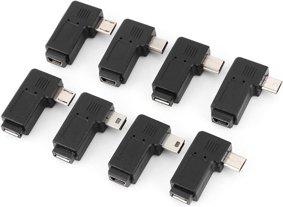 M Mini Micro Adaptateur De Usb Prise M/âle /À Femelle Pour Ordinateur Tablette T/él/éphone Portable Kit Adaptateur USB 2.0 Convertisseur Angle F ensemble De 40 Pcs