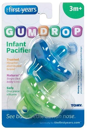 Amazon.com: Gumdrop chupete en verde/azul: Baby
