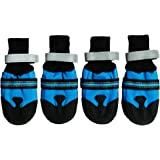 Dog Boots Waterproof Paw Protectors for Large Dogs (Pack of 4)