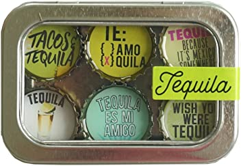 Kate Grenier Designs m6: teq Tequila Magnet six Pack, Multicolored