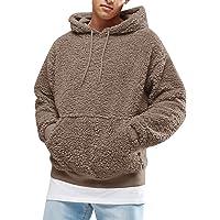 Gemijacka Trui voor heren, hoodie, pluche hoodie, sweatshirt, teddy fleece, pullover met zakken